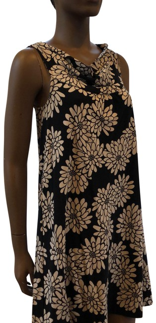 Item - Black and Beige Lcpur Mid-length Short Casual Dress Size Petite 4 (S)