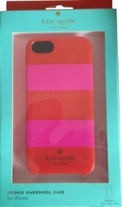 Kate Spade Kate Spade Rugby Stripe Pink & Red Case Cover iPhone 5/5S