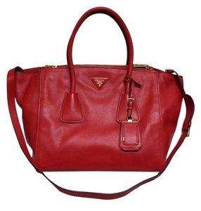 Prada Lipstick Tote in Red