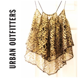 Urban Outfitters Top gold blavk