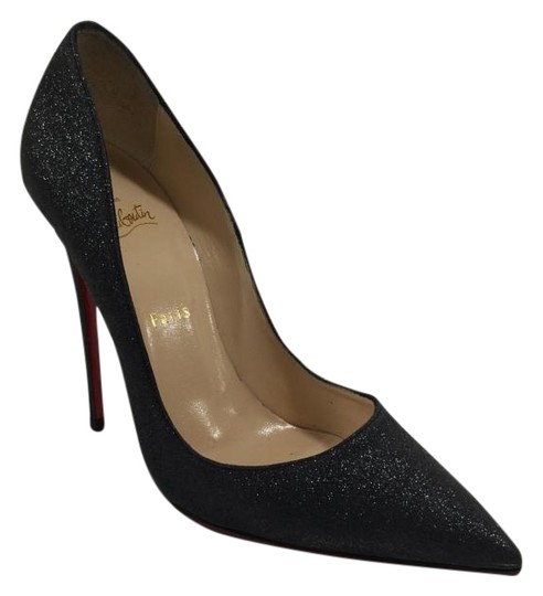Christian Louboutin So Kate Charcoal Glitter Penny Lane Black Pumps