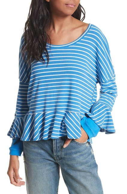 Free People Top New Blue Image 3