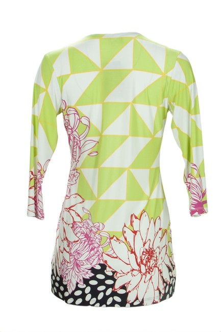 Olian Maternity OLIAN-Maternity-Women-Sz. S Multi-Abstract-Print-Lace-Up-Front-Tunic Image 1