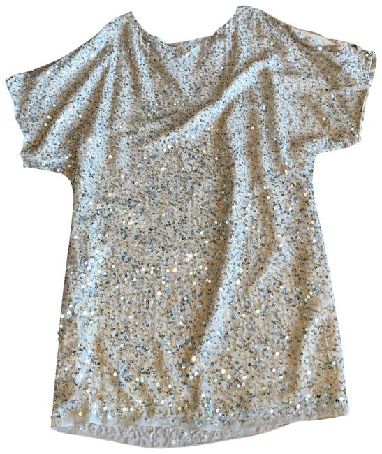 Item - Beige Sequined Tunic Size 4 (S)