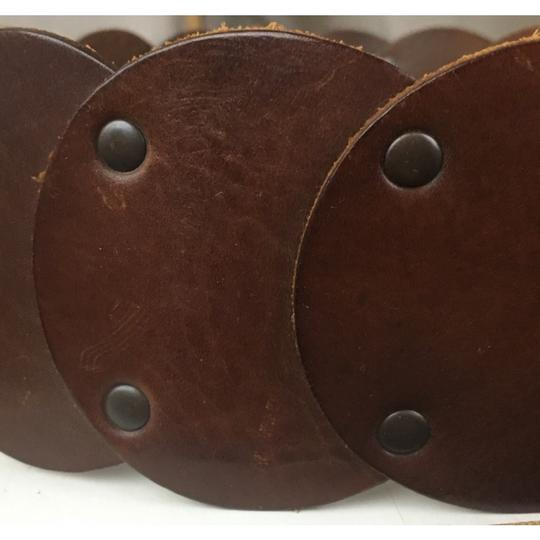 The Limited Leather Circle Tie Belt Image 2