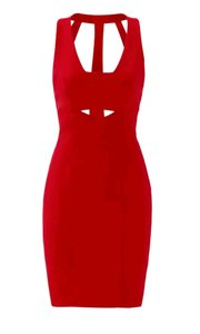 Nicole Miller Cut-out Night Out Polyester Dress