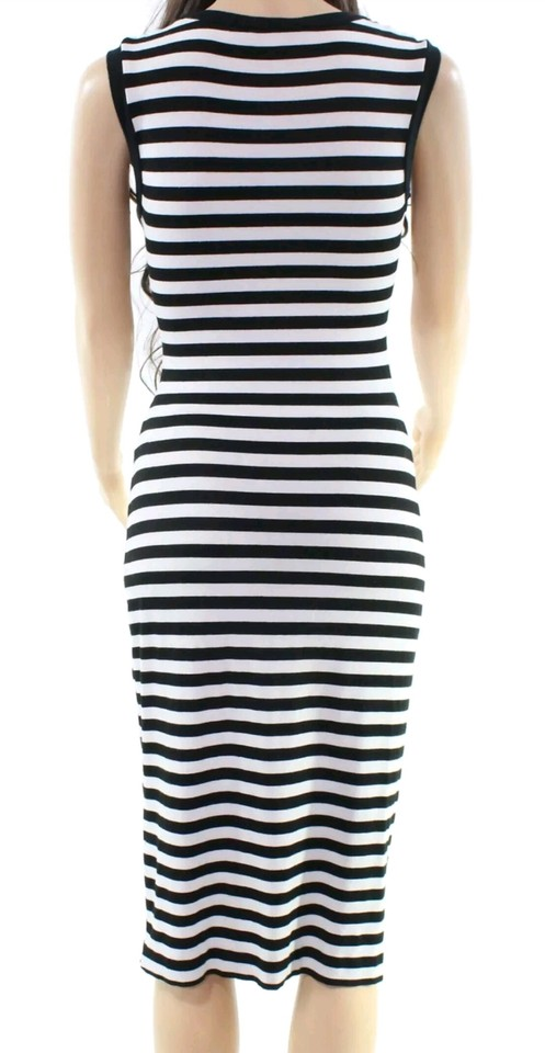 Black And White Maxi Dress By Nicole Miller Tail Night Out Striped Spandex 123