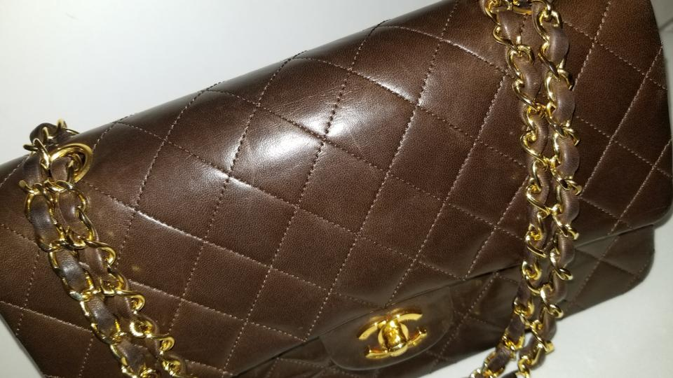 efbd5f72cec24e Chanel Classic Flap Rare Vintage Medium Brown Lambskin Leather Shoulder Bag  - Tradesy