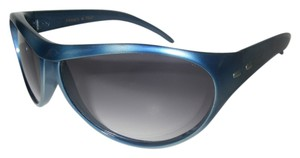 Charles Jourdan Charles Jourdan Sunglasses Blue Wrap Frame France Gray Gradient Lenses