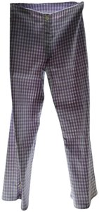 Shendel Paris Made In France Checkered Check Capri/Cropped Pants Lavender