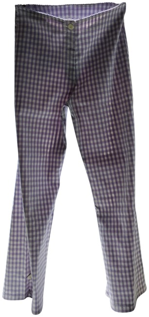 Shendel Paris Made In France Checkered Check Capri/Cropped Pants Lavender Image 0