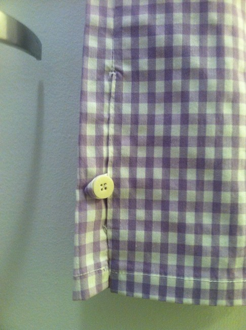 Shendel Paris Made In France Checkered Check Capri/Cropped Pants Lavender Image 1