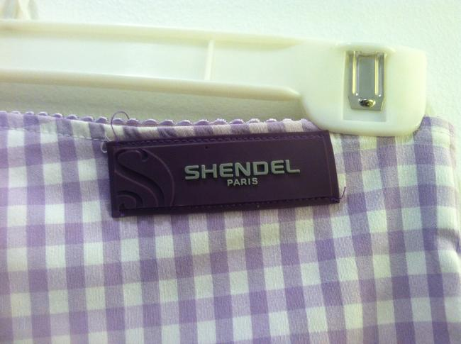 Shendel Paris Made In France Checkered Check Capri/Cropped Pants Lavender Image 3