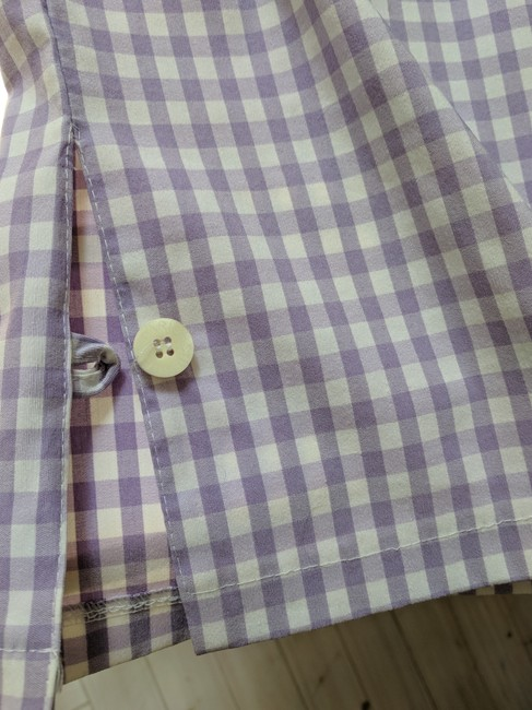 Shendel Paris Made In France Checkered Check Capri/Cropped Pants Lavender Image 5