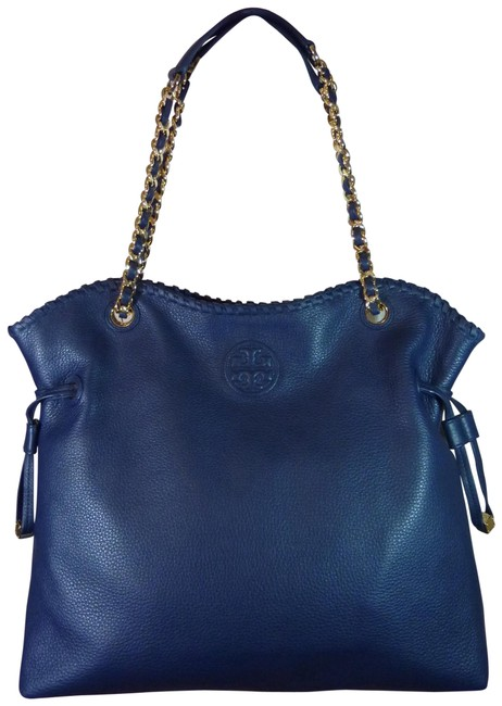 Item - Marion Hudson Ns Slouchy Blue Pebbled Leather Tote