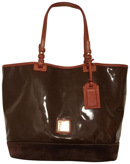 Item - Shopper Brown Tan Patent Leather Tote