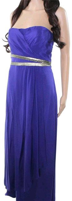 Item - Purple Silk Lined Empire Full Length Maxi Cocktail Formal Long Night Out Dress Size 4 (S)