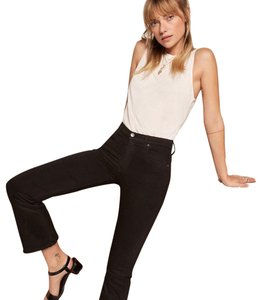Reformation Ankle Flare Mid Rise Capri/Cropped Denim-Dark Rinse