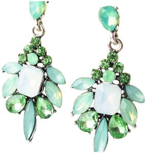 Other New Acrylic and Crystal Green Dangle Earrings