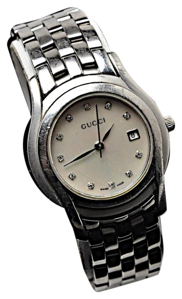0b0a4f4a536 Gucci GUCCI Stainless Steel Swiss Made Water Resistant 5500 L Watch MOP  Image 0 ...