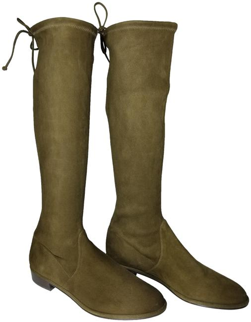 Stuart Weitzman Olive Green New Kneezie Stretch Suede Leather Knee Boots/Booties Size US 10 Regular (M, B) Stuart Weitzman Olive Green New Kneezie Stretch Suede Leather Knee Boots/Booties Size US 10 Regular (M, B) Image 1