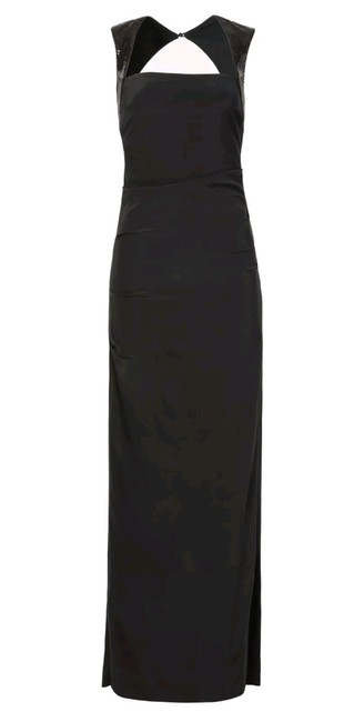 Preload https://img-static.tradesy.com/item/23071798/nicole-miller-black-cap-sleeve-sheath-cocktail-silk-night-out-open-crepe-gown-long-formal-dress-size-0-0-650-650.jpg