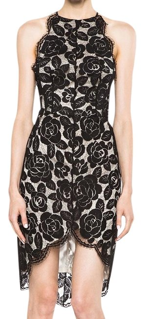 Preload https://img-static.tradesy.com/item/23071826/lover-black-and-cream-lace-rosebud-knit-halter-short-cocktail-dress-size-2-xs-0-2-650-650.jpg