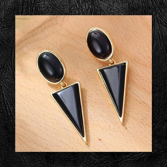 Other New Geometric Enamel Earrings Image 2