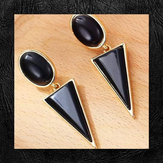 Other New Geometric Enamel Earrings Image 3