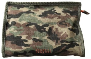 Barneys New York Barney's Camouflage Denim Cosmetics Makeup Bag Case Pouch Sac Clutch