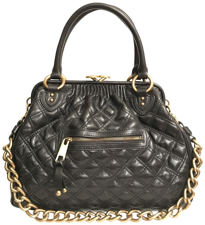 4baf8e57aad9 Marc Jacobs Purse Handbag Quilted Shoulder Vintage Satchel in Black Gold  Image 0 ...