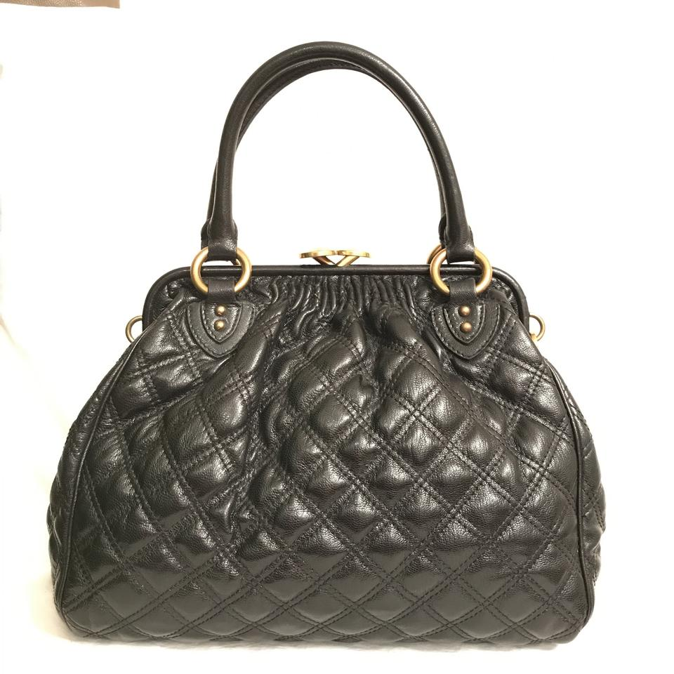 368db2cde55a Marc Jacobs Quilted Black Gold Leather Satchel - Tradesy