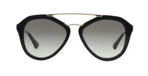 Prada Free 3 Day Shipping SPR 12Q 1AB0A7 New Large Oversized Aviator