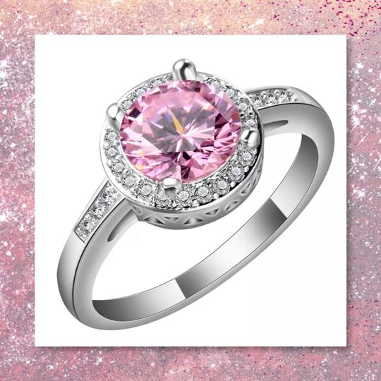 Other New 3pc Pink Sapphire Sterling Silver Set Image 2