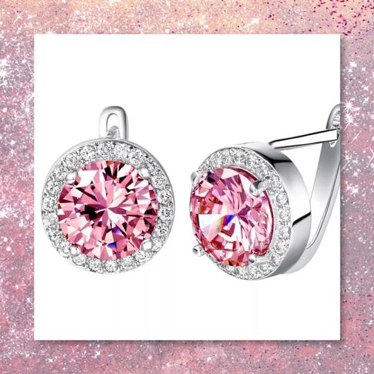 Other New 3pc Pink Sapphire Sterling Silver Set Image 6