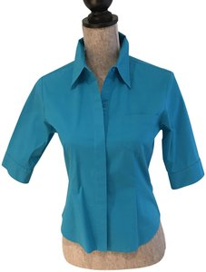 Express Tops Size Small Tops Small Button Down Shirt Turquoise