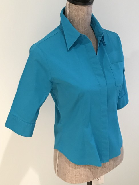 Express Tops Size Small Tops Small Button Down Shirt Turquoise Image 1