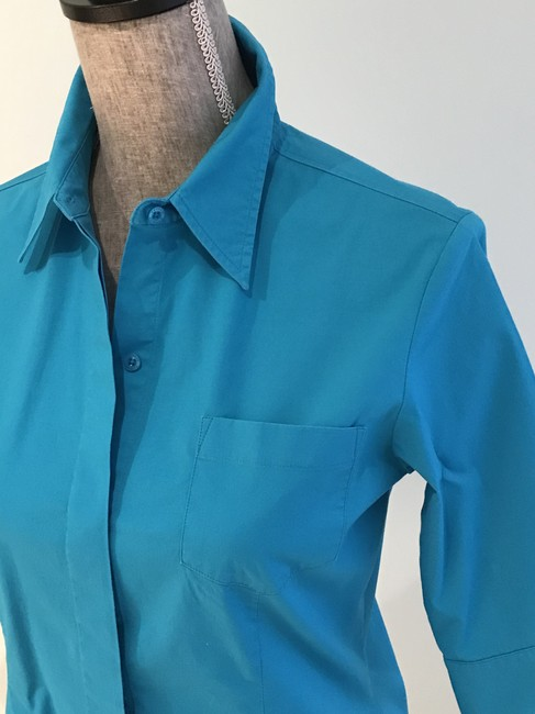 Express Tops Size Small Tops Small Button Down Shirt Turquoise Image 2
