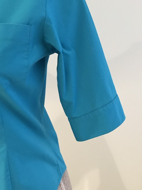 Express Tops Size Small Tops Small Button Down Shirt Turquoise Image 3