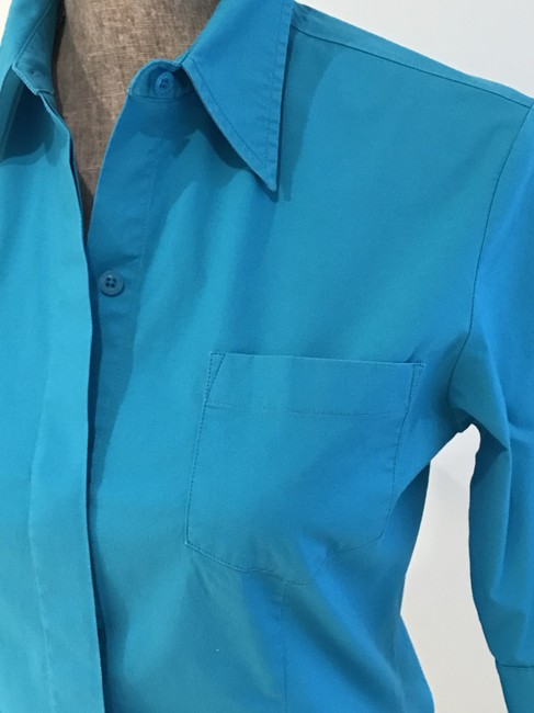 Express Tops Size Small Tops Small Button Down Shirt Turquoise Image 5
