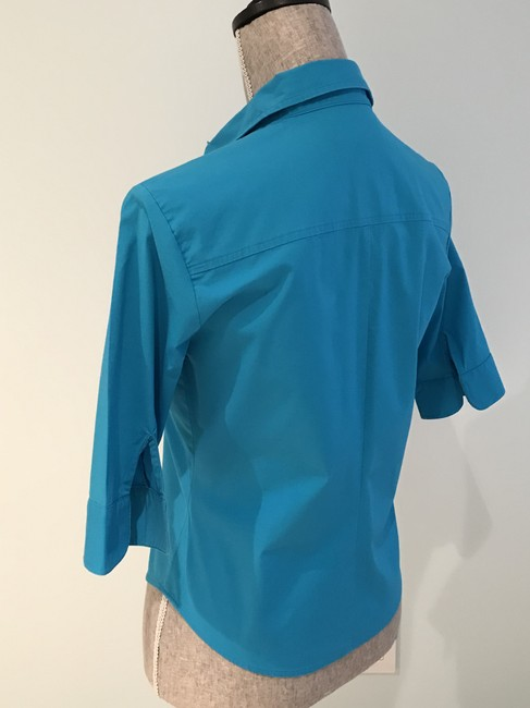 Express Tops Size Small Tops Small Button Down Shirt Turquoise Image 7