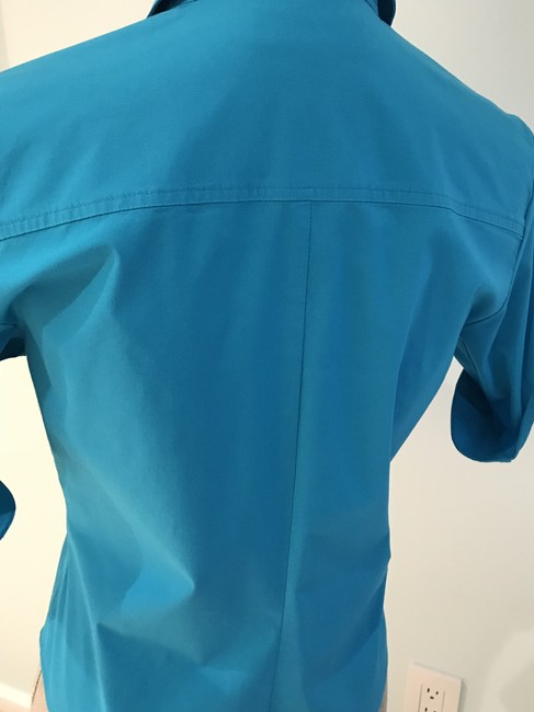 Express Tops Size Small Tops Small Button Down Shirt Turquoise Image 8