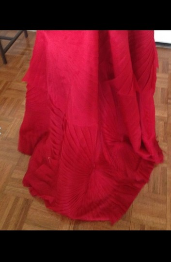 Angel Sanchez Red Silk Formal Bridesmaid/Mob Dress Size 2 (XS)