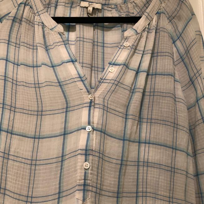 Joie Button Down Shirt blue and white Image 1
