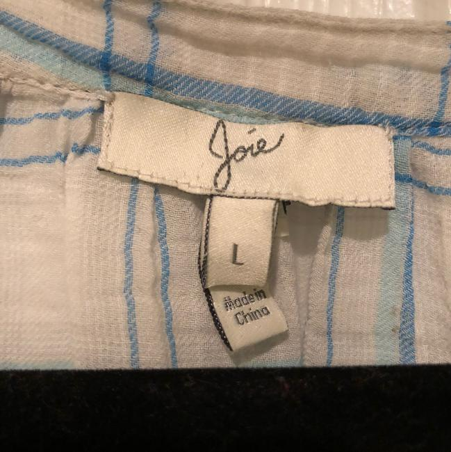 Joie Button Down Shirt blue and white Image 2