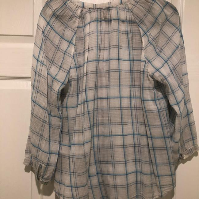 Joie Button Down Shirt blue and white Image 3