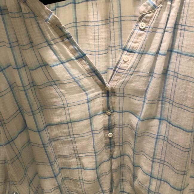 Joie Button Down Shirt blue and white Image 5