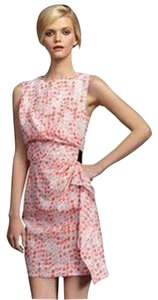 Diane von Furstenberg short dress Coral Orange, White, Black Dvf Alba Waist Tie Silk on Tradesy