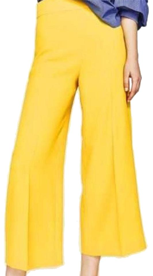 8c20d16a20 Zara Yellow High Waisted Culottes Pants Size 8 (M, 29, 30) 20% off retail