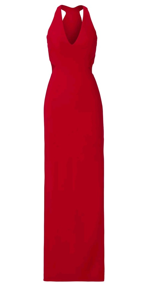 Nicole Miller Red Maxi Sheath Sleeveless Lined Cocktail Cutout Night ...